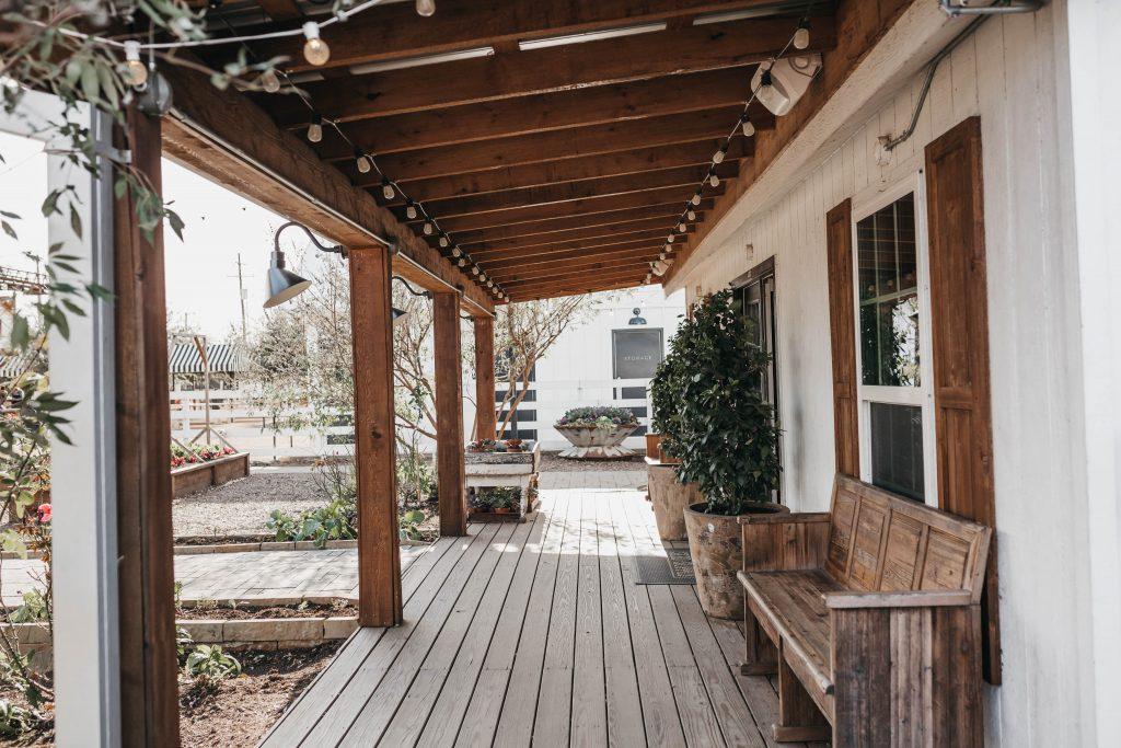 Patio Cover On Farm House
